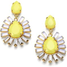 ABS by Allen Schwartz Jewelry Baguette & Pear-Shaped Earrings ($46) ❤ liked on Polyvore featuring jewelry, earrings, accessories, brincos, yellow, baguette earrings, post earrings, pear shape earrings, abs by allen schwartz jewelry and abs by allen schwartz