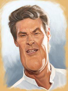 Caricatura de David Hasselhoff.