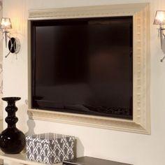 Framed TV!  Looks so posh.
