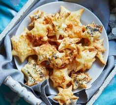 Cheese stars made these with puff, but think better with shortcrust