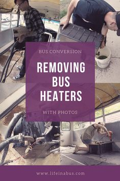 How to remove heaters from bus conversion School Bus Tiny House, School Bus Camper, Magic School Bus, Bus Tags, Travel Camper, Diy Camper, Bus Remodel, Converted School Bus, Bus Living