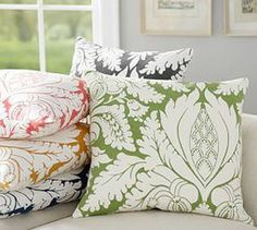 Damask Print Cushion Cover