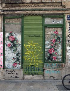 Raquel Rodrigo, a Spanish artist and set designer, adding her own colorful touch to Spain's streets by turning them into beautiful floral cross-stitch installations.