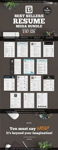 Professional Resume #Template Rania includes a 3 pages #resume, a - resume editing
