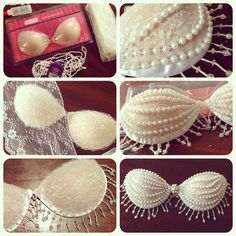 DIY Lace & Pearls