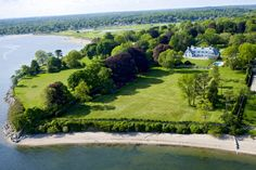Stretching waterfront and green acreage at Sasco Hill.