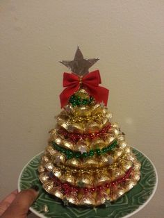 Yet another creation based on one of my Christmas craft pins...with my own spin of course....ppl fell head over heels for these bad boys.....time consuming but worth it...Hershey Christmas Tree