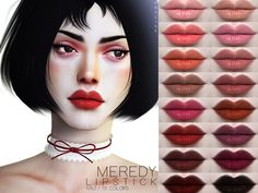 Meredy Lipstick N163 for The Sims 4