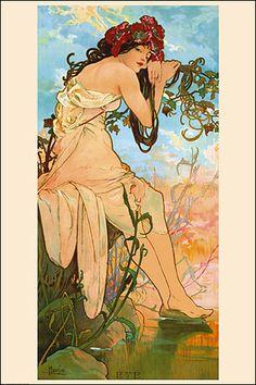 Alphonse Mucha. The Four Seasons. Summer 1986