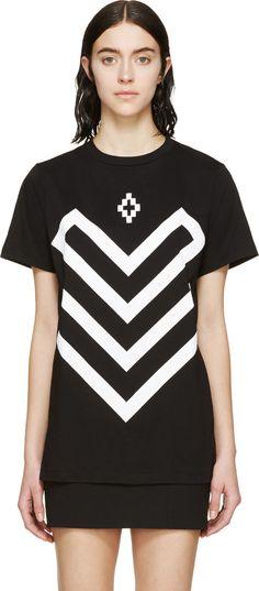 Marcelo Burlon County of Milan SSENSE  EXCLUSIVE Black & White Prior White Arrows T-Shirt