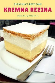 Here's what Slovenia's best and most famous cake is, and how to cook it. Who doesn't love kremna rezina?? #kremnarezina #bled #slovenia