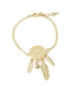Back in stock! Our Dream Catcher Chain Bracelet is gold plated metal. It features a small dream catcher pendant at the center with danging metal feathers and a bead. Chain link bracelet, with lobster Cute Jewelry, Jewelry Accessories, Spoon Jewelry, Dream Catcher Bracelet, Fashion Jewelry, Women Jewelry, Fashion Bracelets, Coin Pendant Necklace, Cameo Necklace