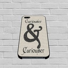Curiouser & Curioser Alice in Wonderland case for iPhone, iPod, Samsung Galaxy, HTC One, Nexus