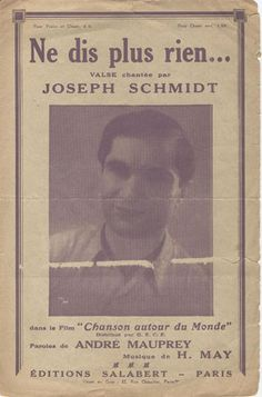 Untitled Document Joseph Schmidt, Opera Singers, Cabaret, Baseball Cards, History, My Love, Books, Men, Image