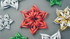3D Origami - Yaratıcı Ve Sevimli Havalı Kar Tanesi Tasarımı - Japon kağıt katlama sanatı (3D Origami) - teknikleri, örnekleri ve ipuçlarını videolu anlatımı. Kağıttan hediyelik ve özel günler için yaratıcı ve sevimli havalı kar tanesi yapımı (3D Paper Snowflake Video)