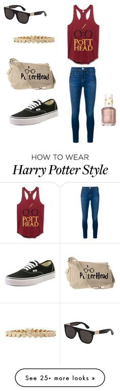 """""""Harry Potter Inspired"""" by abbyy-style on Polyvore featuring RetroSuperFuture, Essie, Vans, Frame Denim and Eddie Borgo"""