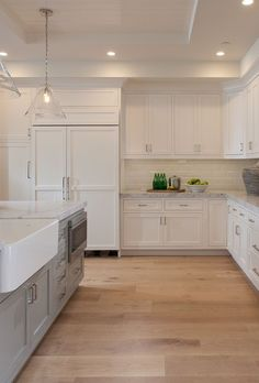 Flooring is x wood floor planks stained in a Light Rustic White Oak. - Flooring is x wood floor planks stained in a Light Rustic White Oak. Rustic Kitchen Cabinets, Kitchen Decor, Kitchen Rustic, Kitchen Ideas, Kitchen Backsplash, Kitchen Colors, Kitchen Upgrades, Kitchen Cupboard, Kitchen Counters