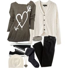 """""""Allison Inspired Cold Casual Outfit"""" by veterization on Polyvore"""