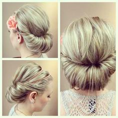 fun updo for a change