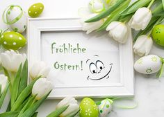 Frohe Ostern, Ostereier Grußbilder