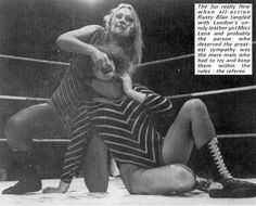 #UK wrestler Lena Blair trying to rip the face off Rusty Blair