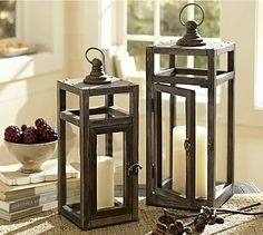 Love these Camden lanterns. From, who else? Pottery Barn.