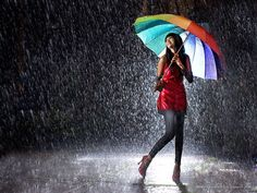 """Everyone wants happiness,  no one wants pain,  but you can't make a rainbow  without a little rain.""  ― -Unknown"