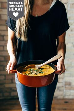Spicy Vegan Carrot Soup made with coconut milk, onions, carrots, garlic, and curry paste. Easy, vegan, gluten free, awesome. | pinchofyum.com