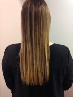 Ombré hair châtain chocolat froid vers le blond très clair #faitmainbyArmonie