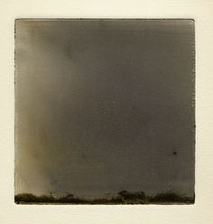 """Wendy Mark - OH THE WIND AND RAIN, 5 1/2 """" X 5 """" MONOTYPE 2006"""