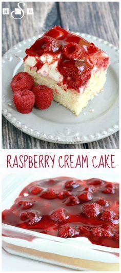 Raspberry Cream Cake - Butter With a Side of Bread