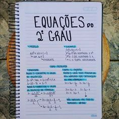 Equações do 2° grau Mental Map, I Love School, Notebook Organization, Knowledge And Wisdom, Lettering Tutorial, Study Hard, Study Inspiration, School Hacks, Study Notes