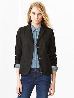 Classic pique blazer. Like the look of the fit, but not in black or navy