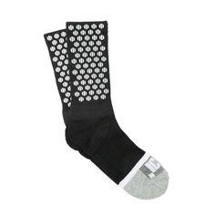 Black Basic Half Calf Dots Socks