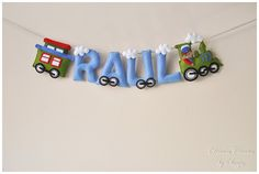 Felt name banner nursery decor personalized gift by DreamCreates