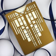Gatsby Lasercut Gatefold by KatBluStudio on Etsy