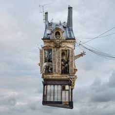 The town that took off: Laurent Chehere's flying houses – in pictures | Art and design | The Guardian