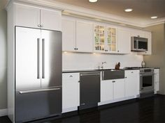 Image result for style of kitchen that just runs down one wall