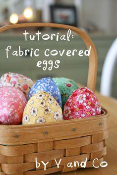 Tutorial : fabric covered eggs