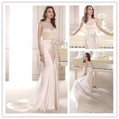 Find More Wedding Dresses Information about Elegant simple lace and stain scoop wedding sashes with bow Slim Cut see through white open back wedding dress 2015 NT 783,High Quality sash for flower girl dress,China sash cover Suppliers, Cheap sash wedding from Suzhou Amy wedding dress co., LTD on Aliexpress.com