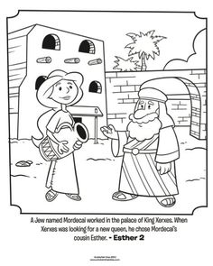 Esther and Mordecai - Bible Coloring Pages | Whats in the Bible?