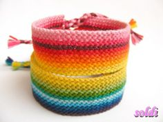 Two extra-wide bracelet, which together form a rainbow