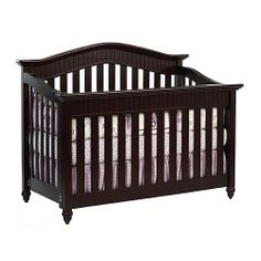 The Babi Italia Hamilton Convertible Crib In Chocolalate