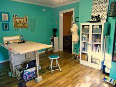 Sewing Room by lladybird, via Flickr