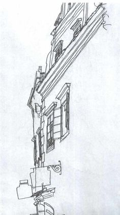 Egon Schiele line drawing of a corner of a building Line Drawing, Drawing Sketches, Painting & Drawing, Art Drawings, Egon Schiele Zeichnungen, Egon Schiele Drawings, Dm Poster, Art Postal, Building Drawing