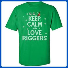 Keep Calm And Love Riggers Jobs Ugly Christmas Sweater - Adult Shirt - Holiday and seasonal shirts (*Amazon Partner-Link)