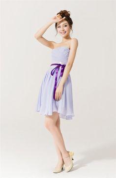 Frühjahr/Sommer-Lavendel Brautjungfernkleider billig Brautjungfer Kleider, chiffon, schulterfreies Brautjungfer Kleider, Größe anpassen