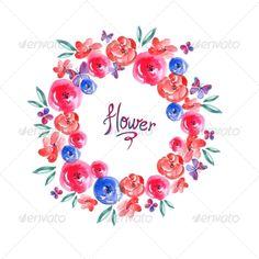 Floral Frame, Invitation Card Vignette