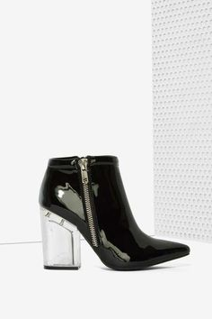 Jeffrey Campbell Truly Patent Leather Bootie - Shoes