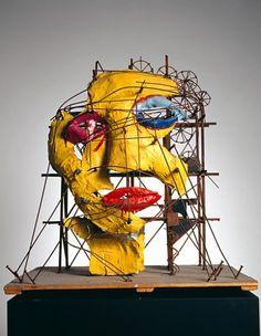 Niki de Saint Phalle & Jean Tinguely    Le Cyclop - La Tête  Maquette  1970    http://www.tinguely.ch/fr/museum_sammlung/sammlung.1970-1979_011.html
